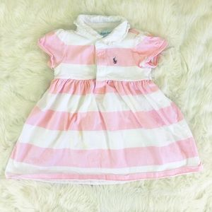 Pink and White Striped Ralph Lauren Dress